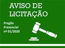 Aviso de Edital (Pregão de nº 01/2020), contratação de empresa de engenharia para realizar reforma e ampliação no prédio da Câmara Municipal de José de Freitas