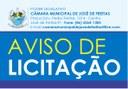 Pregão de número 02/2021- Aquisição de material de limpeza e alimentos para a Câmara Municipal de José de Freitas- Piauí